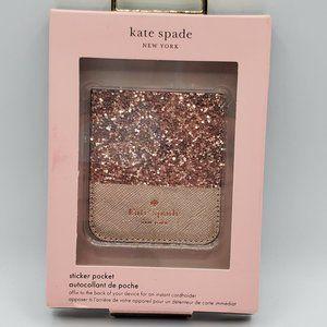 Kate Spade Sticker Pocket Glitter Rose Gold